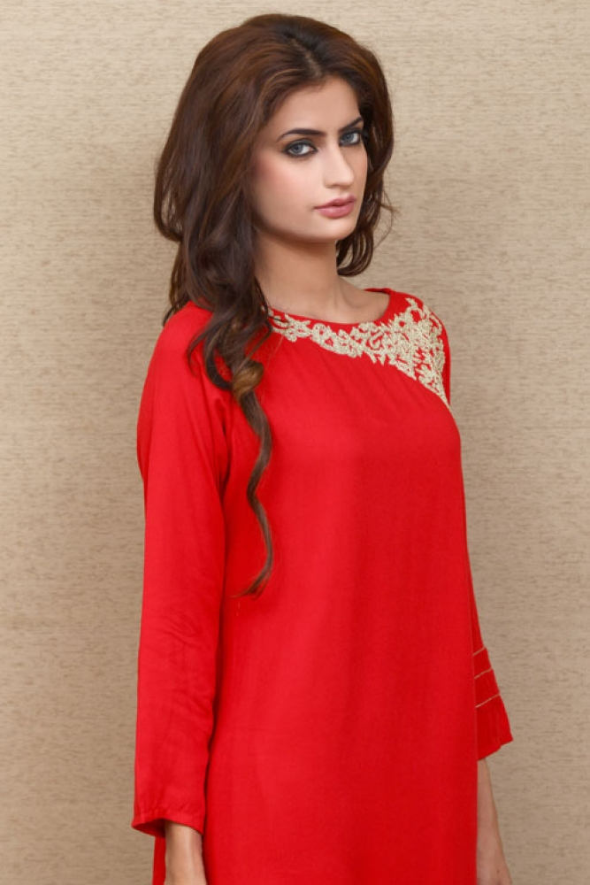 Change Ladies Summer Formal Dresses Kurta Styles & Designs (8)