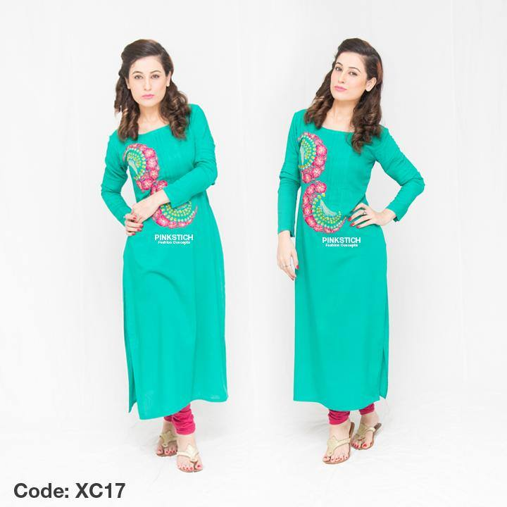Colorful Stylish Kurta Dresses for Women By Pinkstich Collection 2015-2016 (1)