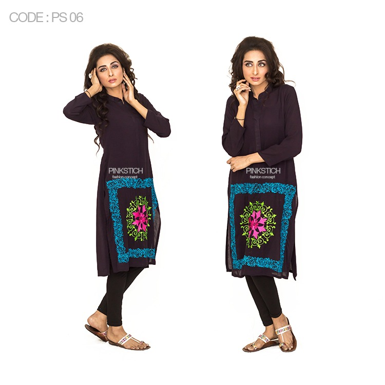 Colorful Stylish Kurta Dresses for Women By Pinkstich Collection 2015-2016 (10)