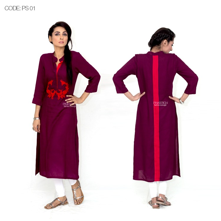 Colorful Stylish Kurta Dresses for Women By Pinkstich Collection 2015-2016 (12)