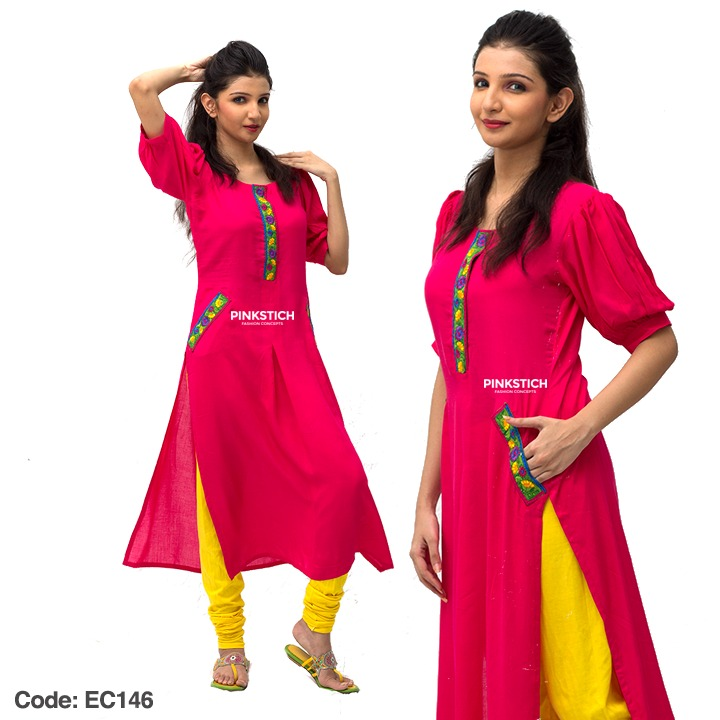 Colorful Stylish Kurta Dresses for Women By Pinkstich Collection 2015-2016 (16)