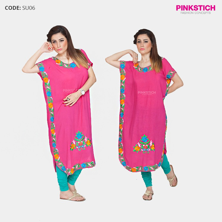 Colorful Stylish Kurta Dresses for Women By Pinkstich Collection 2015-2016 (2)