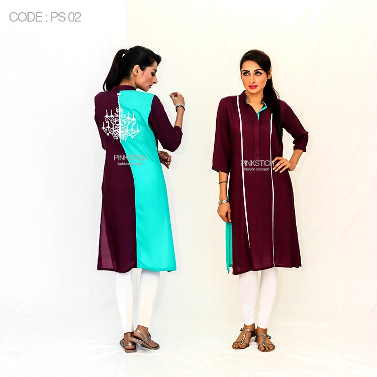 Colorful Stylish Kurta Dresses for Women By Pinkstich Collection 2015-2016 (22)