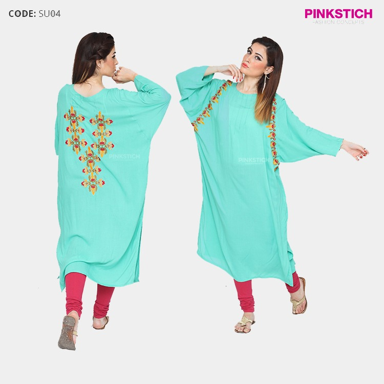 Colorful Stylish Kurta Dresses for Women By Pinkstich Collection 2015-2016 (23)