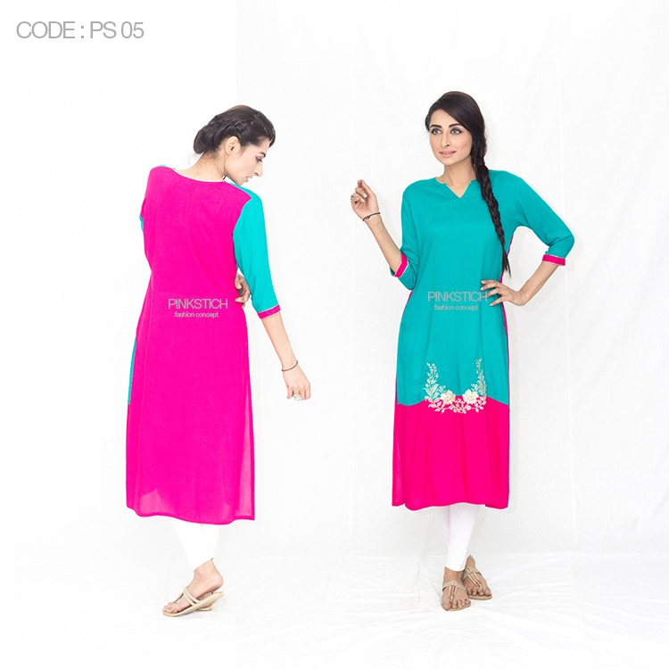 Colorful Stylish Kurta Dresses for Women By Pinkstich Collection 2015-2016 (28)