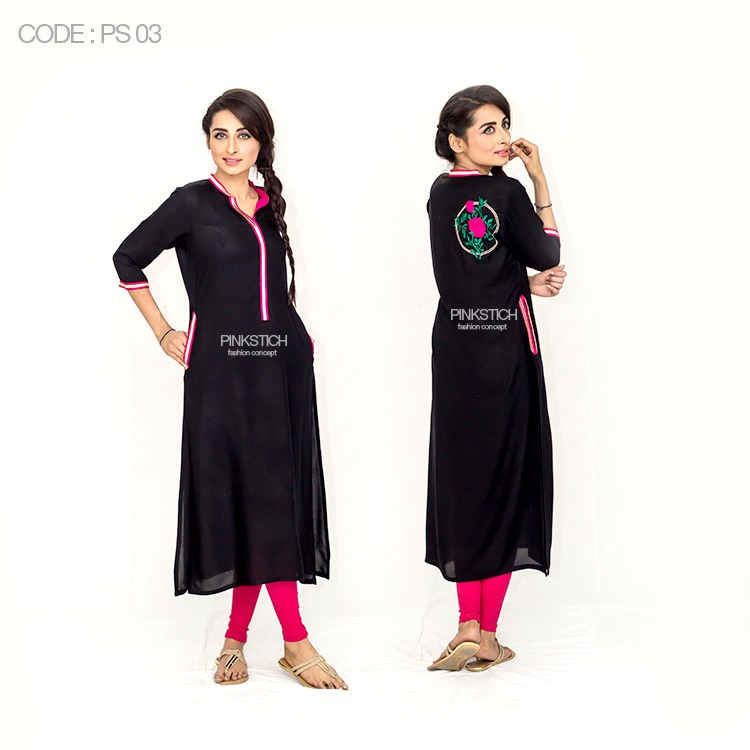 Colorful Stylish Kurta Dresses for Women By Pinkstich Collection 2015-2016 (3)