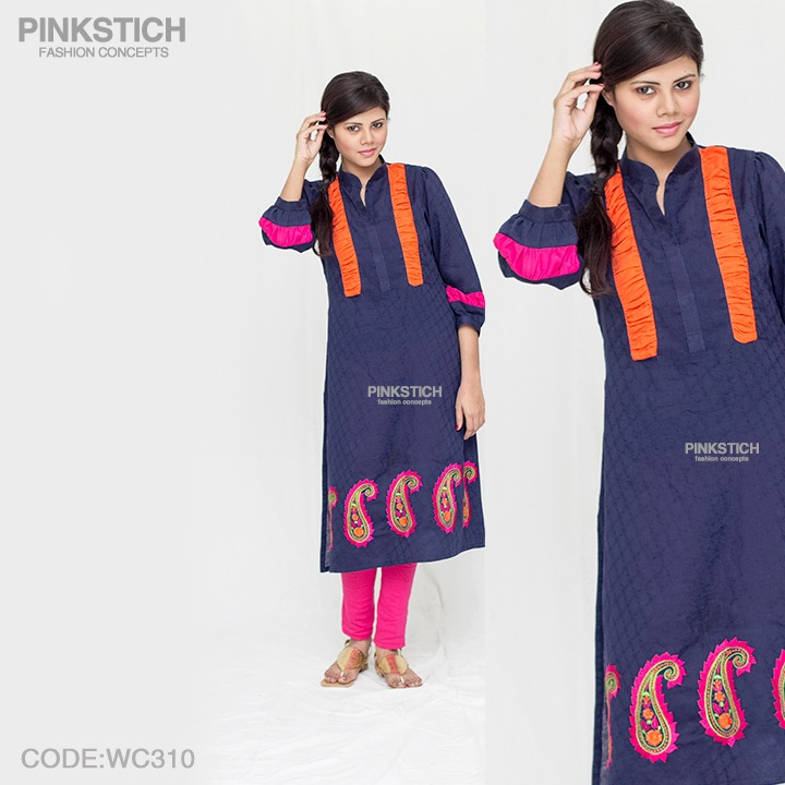 Colorful Stylish Kurta Dresses for Women By Pinkstich Collection 2015-2016 (4)
