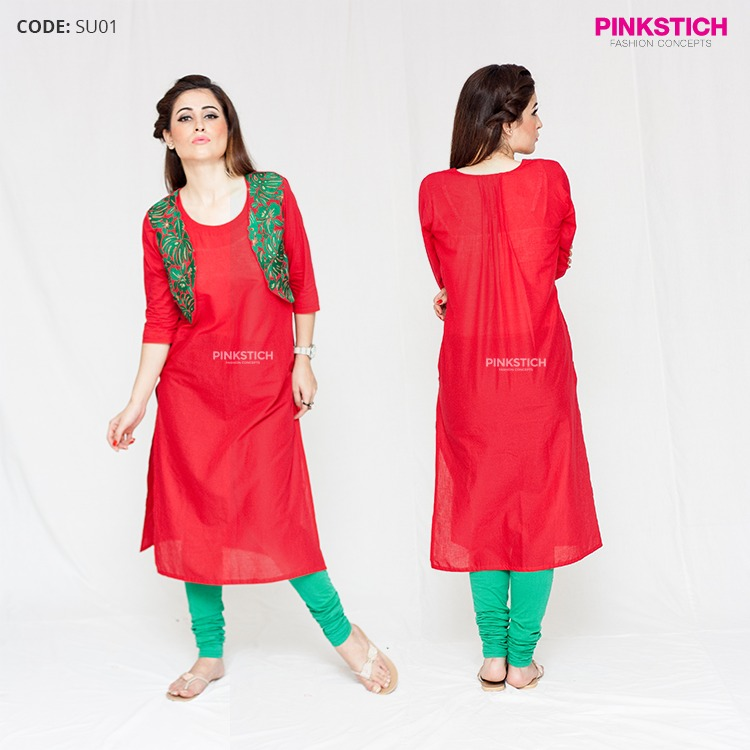 Colorful Stylish Kurta Dresses for Women By Pinkstich Collection 2015-2016 (6)
