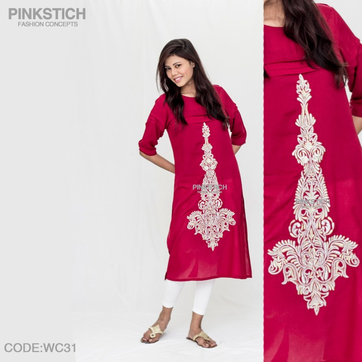Colorful Stylish Kurta Dresses for Women By Pinkstich Collection 2015-2016 (7)