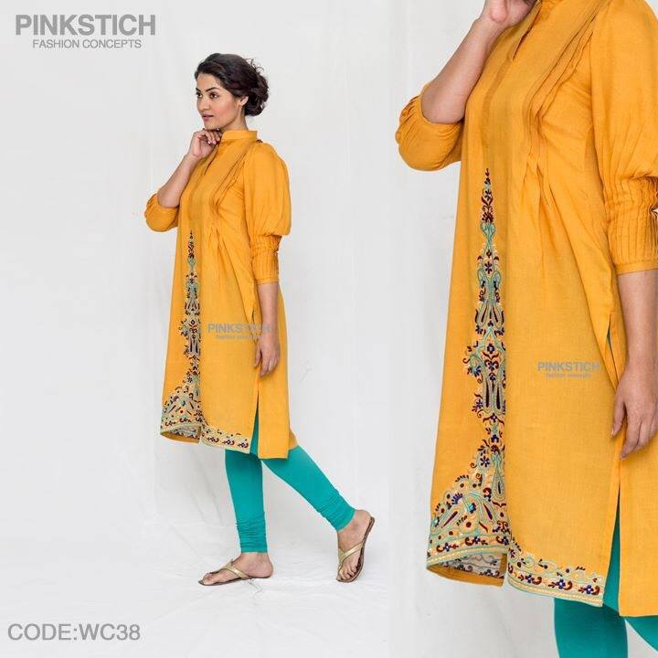 Colorful Stylish Kurta Dresses for Women By Pinkstich Collection 2015-2016 (8)