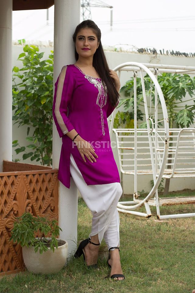 Women Colourful Stylish Kurta Dresses Collection 2017-2018 by Pinkstitch