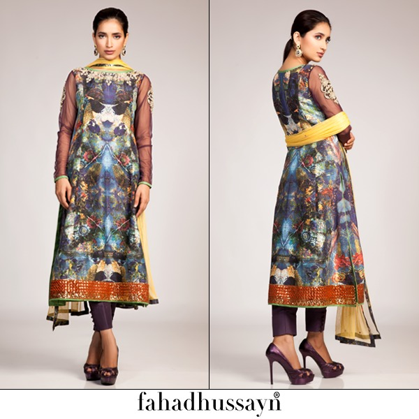 Fahad Hussayn Digital Printed Silk, Eid Collection 2015-2016 (1)