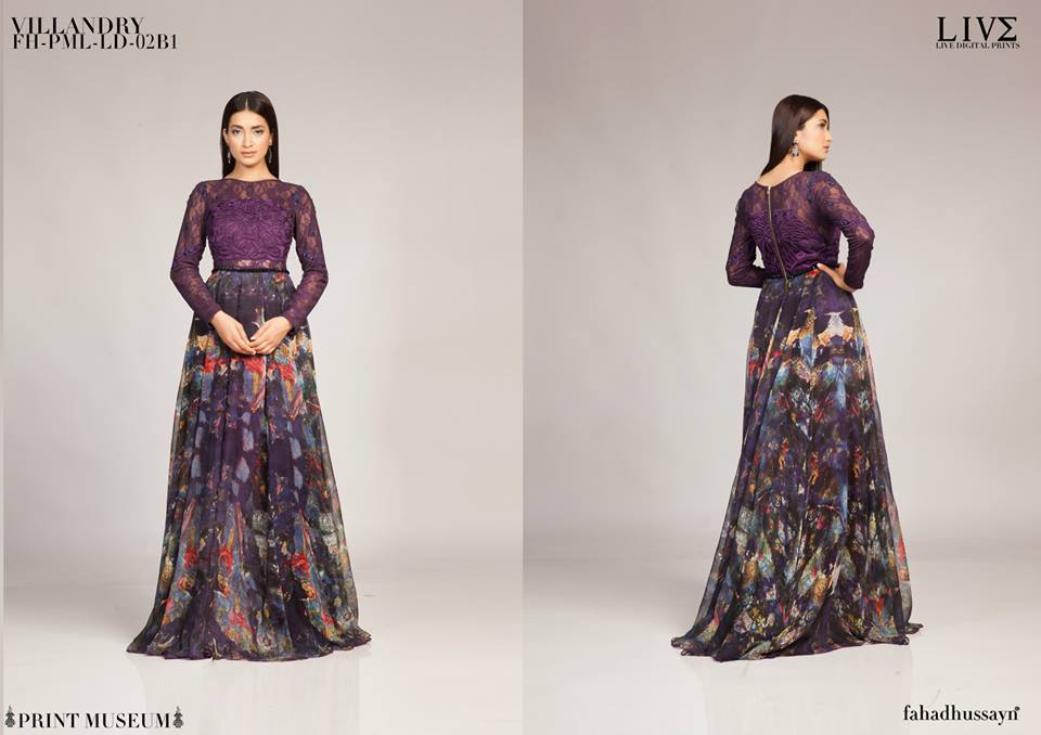 Fahad Hussayn Digital Printed Silk, Eid Collection 2015-2016 (10)
