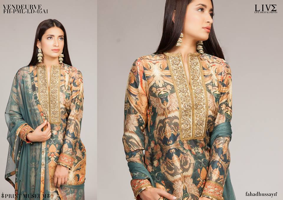 Fahad Hussayn Digital Printed Silk, Eid Collection 2015-2016 (11)