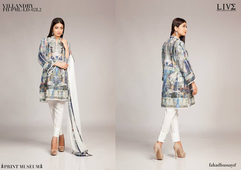 Fahad Hussayn Digital Printed Silk, Eid Collection 2015-2016 (17)