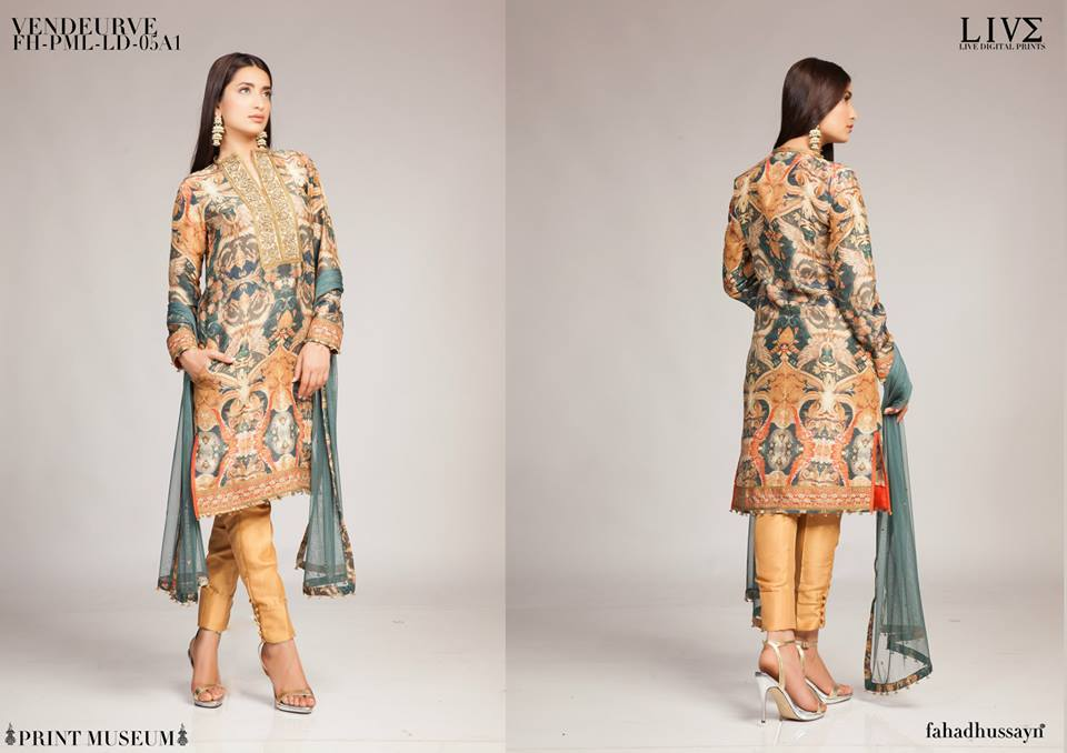 Fahad Hussayn Digital Printed Silk, Eid Collection 2015-2016 (18)