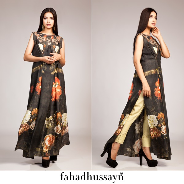 Fahad Hussayn Digital Printed Silk, Eid Collection 2015-2016 (2)