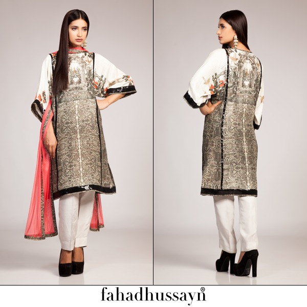 Fahad Hussayn Digital Printed Silk, Eid Collection 2015-2016 (4)