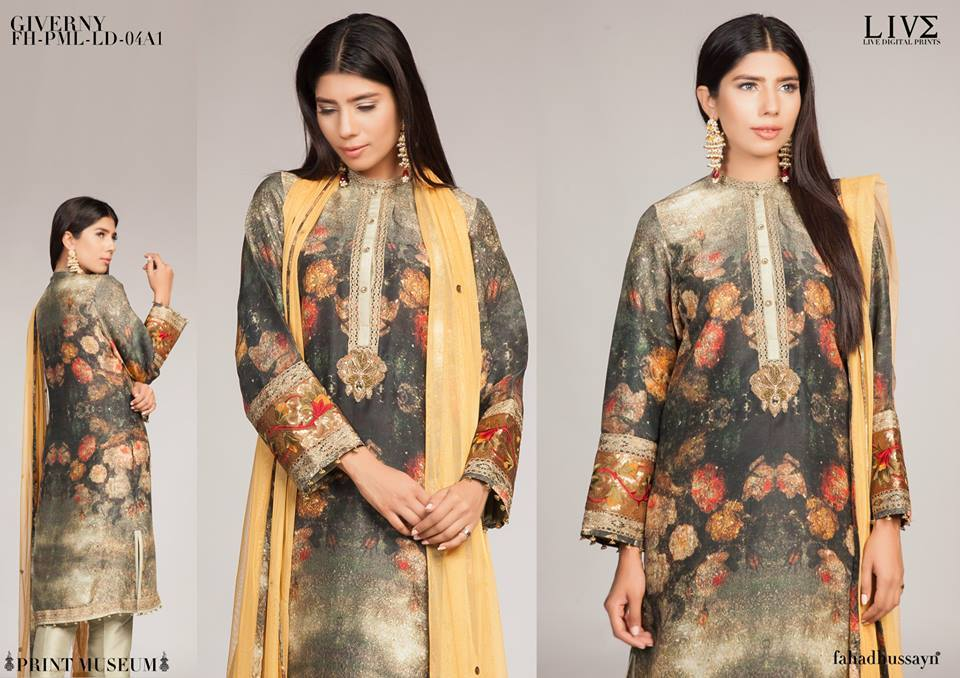Fahad Hussayn Digital Printed Silk, Eid Collection 2015-2016 (6)