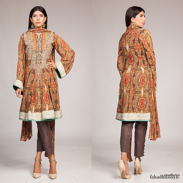 Fahad Hussayn Digital Printed Silk, Eid Collection 2015-2016 (8)