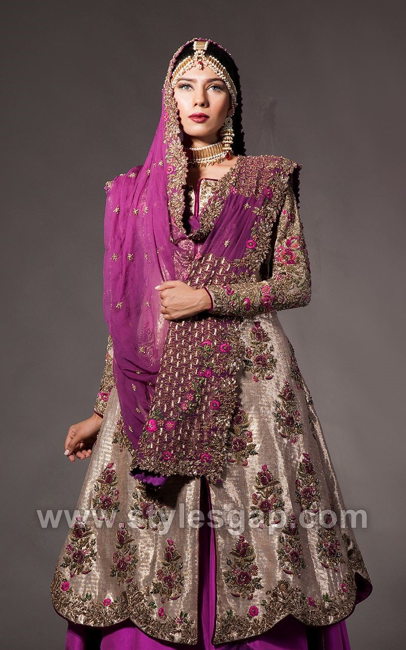 Fahad hussayn latest pakistani designer bridal dresses for Pakistani designer wedding dresses