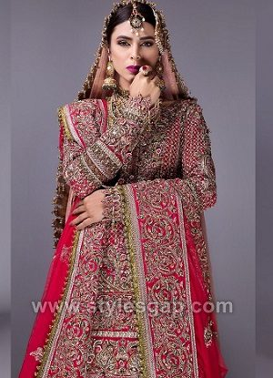 Fahad Hussayn Latest Pakistani Designer Bridal Dresses Collection 2018