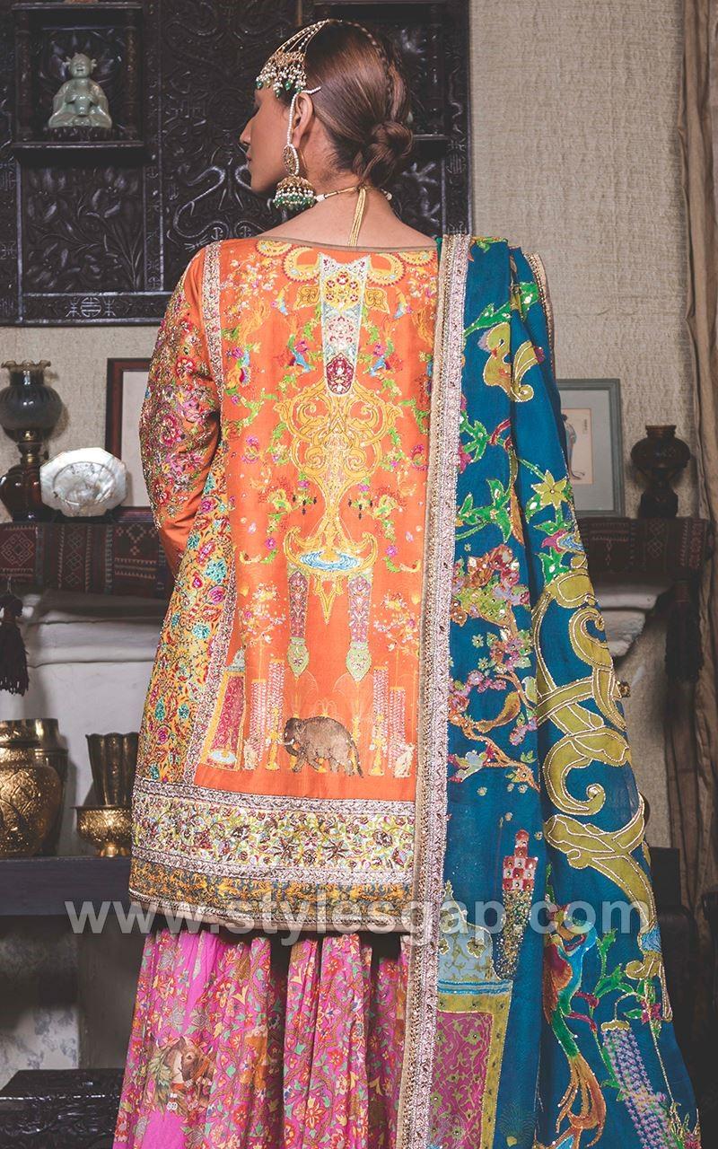 Mehndi Lehenga 2018 : Fahad hussayn latest pakistani designer bridal dresses