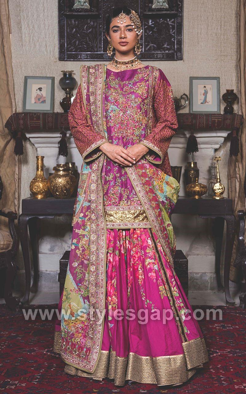 Mehndi Lehenga Design 2018 : Fahad hussayn latest pakistani designer bridal dresses