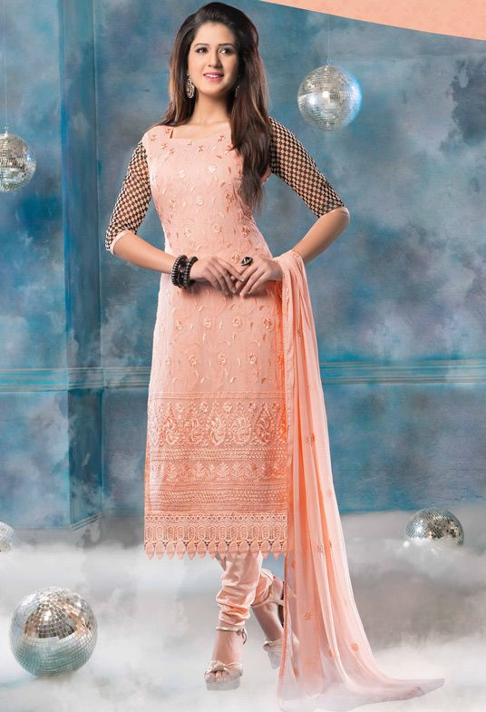 Indian Fashion Latest Churidar Suits Designs Collection
