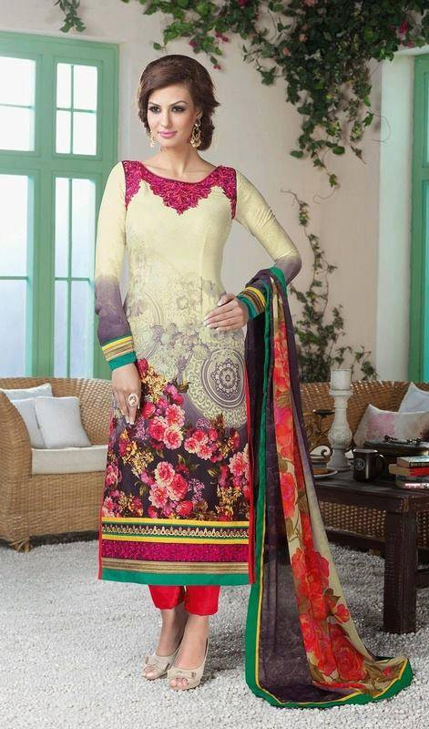 Indian Fashion Latest churidar Suits Designs Collection 2015-2016 (21)
