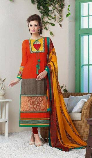 Indian Fashion Latest churidar Suits Designs Collection 2015-2016 (22)