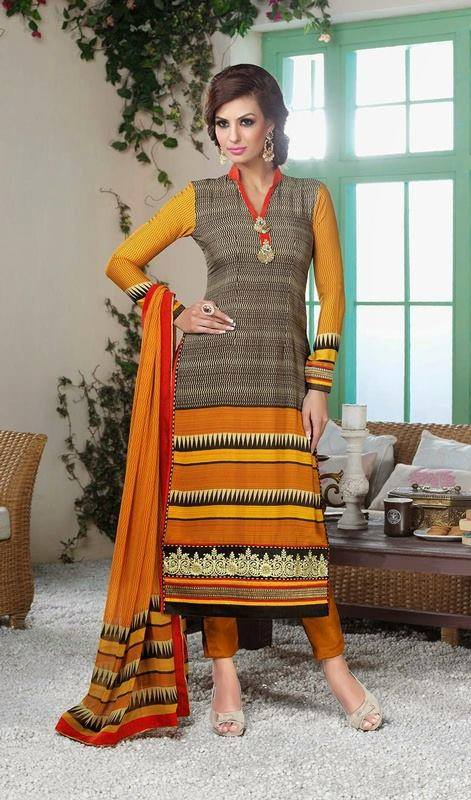 Indian Fashion Latest churidar Suits Designs Collection 2015-2016 (25)