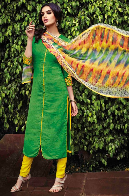 Indian Fashion Latest churidar Suits Designs Collection 2015-2016 (3)