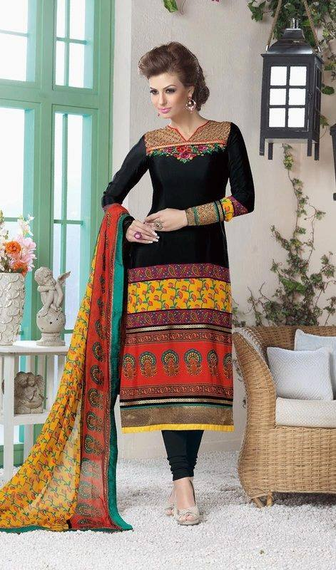 Indian Fashion Latest churidar Suits Designs Collection 2015-2016 (34)