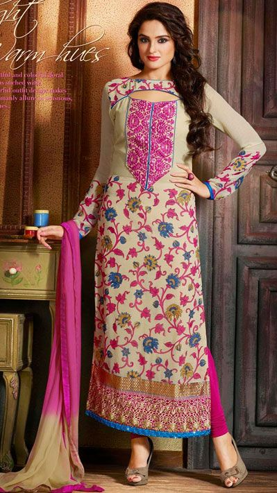 Indian Fashion Latest churidar Suits Designs Collection 2015-2016 (4)