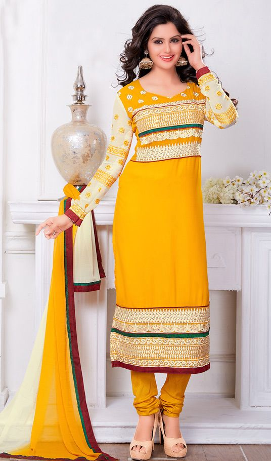 Indian Fashion Latest churidar Suits Designs Collection 2015-2016 (7)
