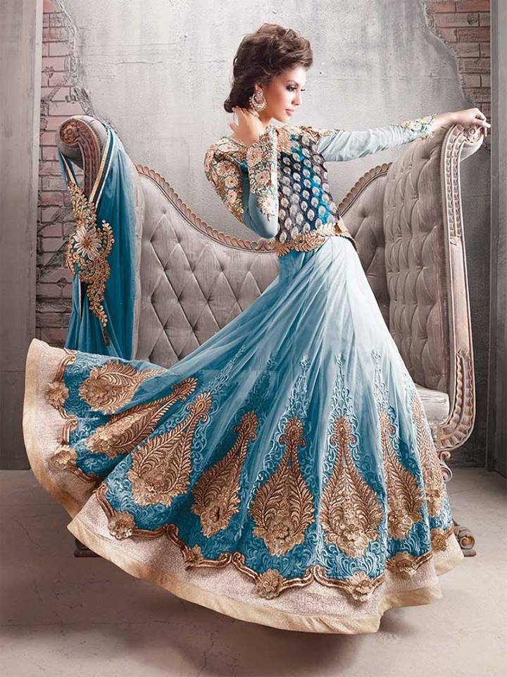 Indian Party Wear Anarkali Dresses Collection 2015-2016 (25)