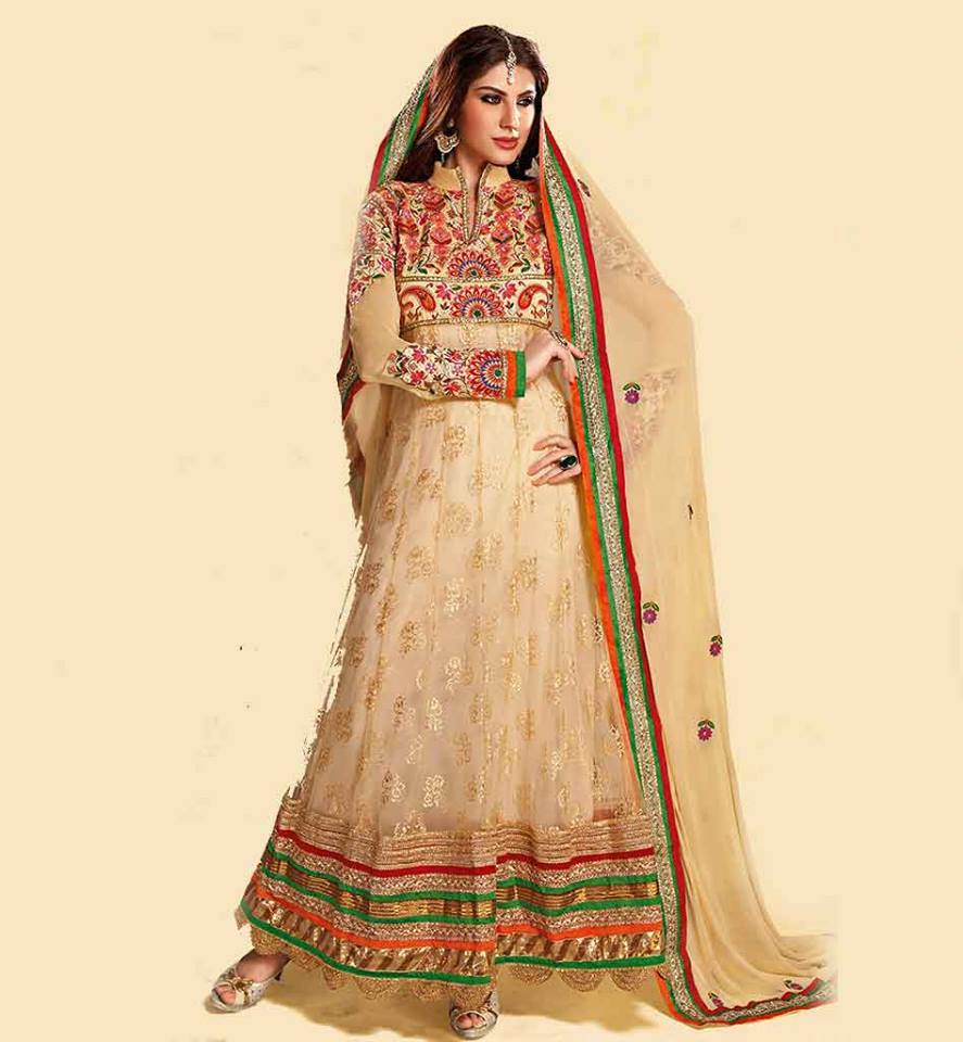 Indian Party Wear Anarkali Dresses Collection 2015-2016 (46)