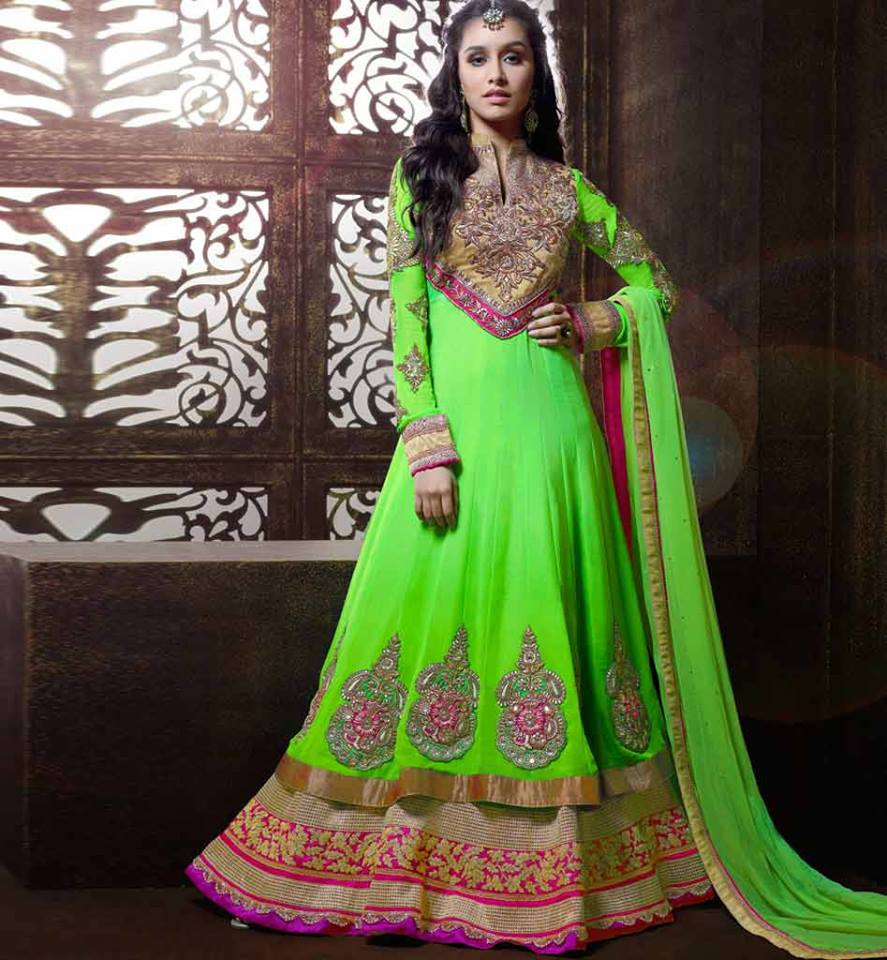 Indian Party Wear Anarkali Dresses Collection 2015-2016 (6)
