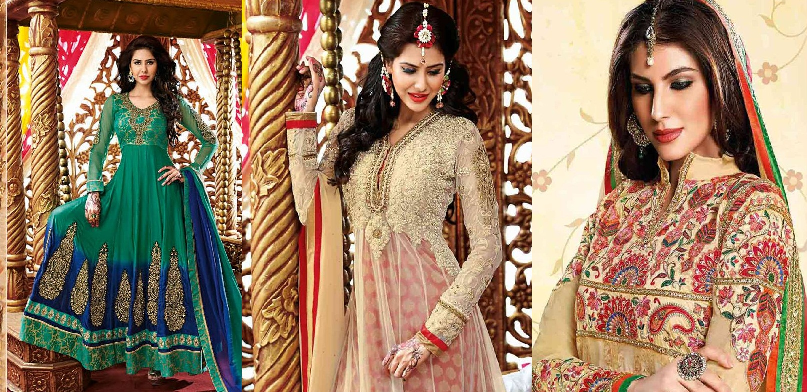 Indian Party Wear Anarkali Dresses Collection 2015-2016