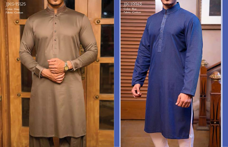 J. Juanid Jamshed Eid Kurta Shalwar Kameez Collection for Men & Boys 2015-2016 (1)