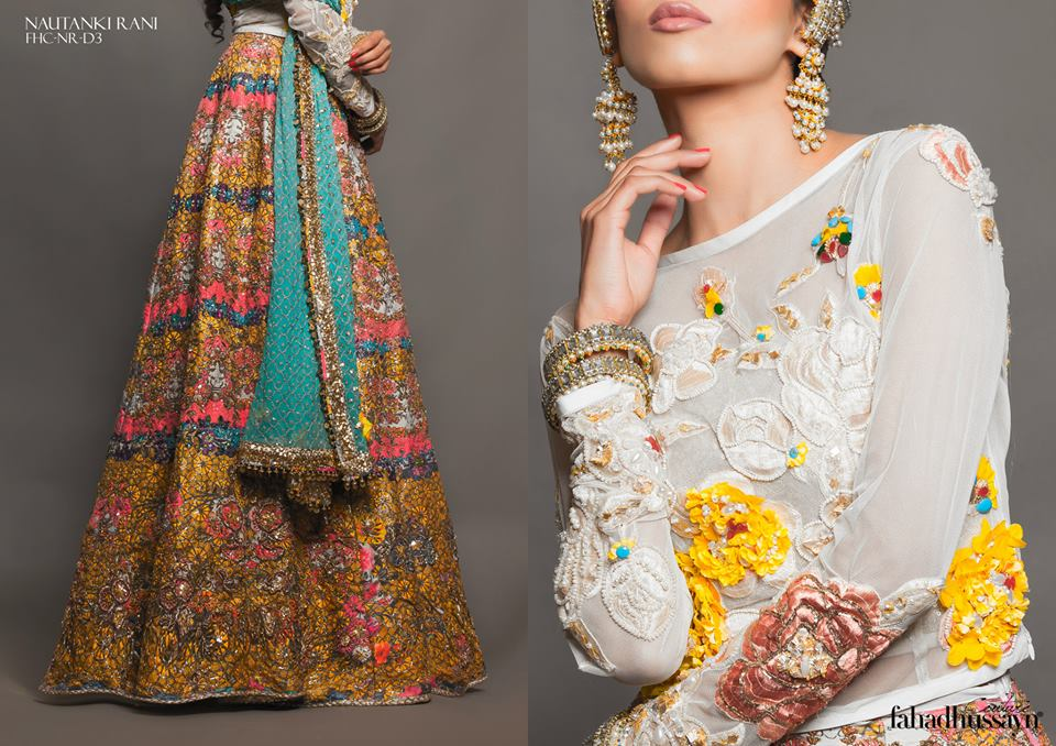 Latest Fahad Hussayn Digital Printed Embroidered Silk Bridal Suits Eid Collection 2015 (12)