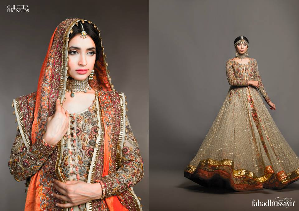Latest Fahad Hussayn Digital Printed Embroidered Silk Bridal Suits Eid Collection 2015 (13)