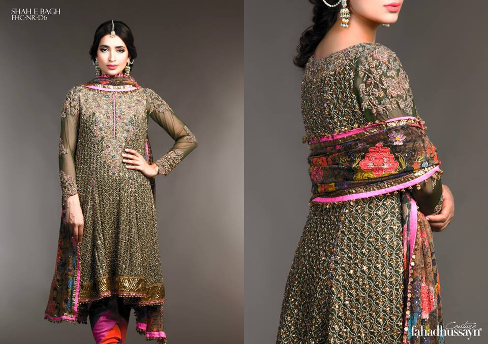 Latest Fahad Hussayn Digital Printed Embroidered Silk Bridal Suits Eid Collection 2015 (15)