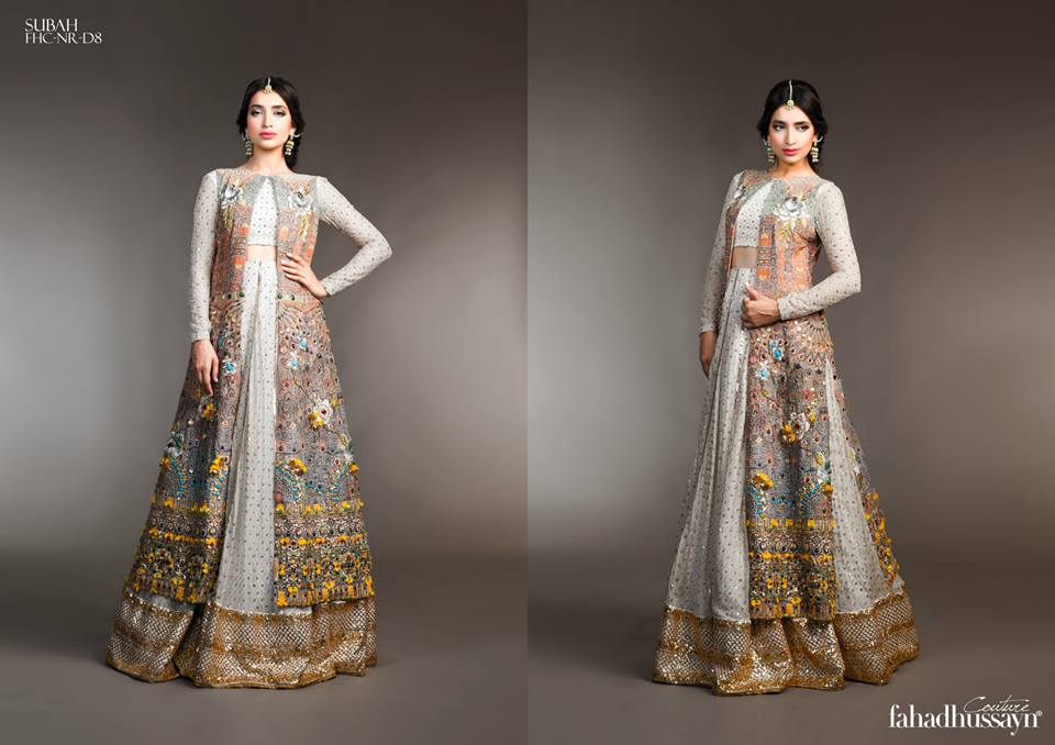 Latest Fahad Hussayn Digital Printed Embroidered Silk Bridal Suits Eid Collection 2015 (4)