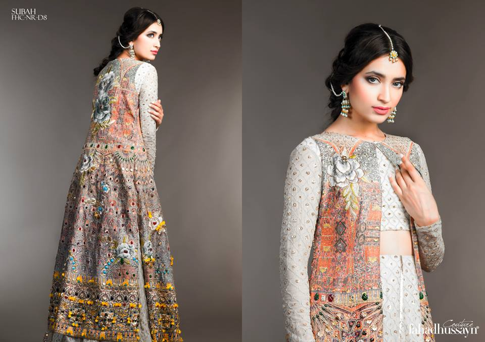 Latest Fahad Hussayn Digital Printed Embroidered Silk Bridal Suits Eid Collection 2015 (5)