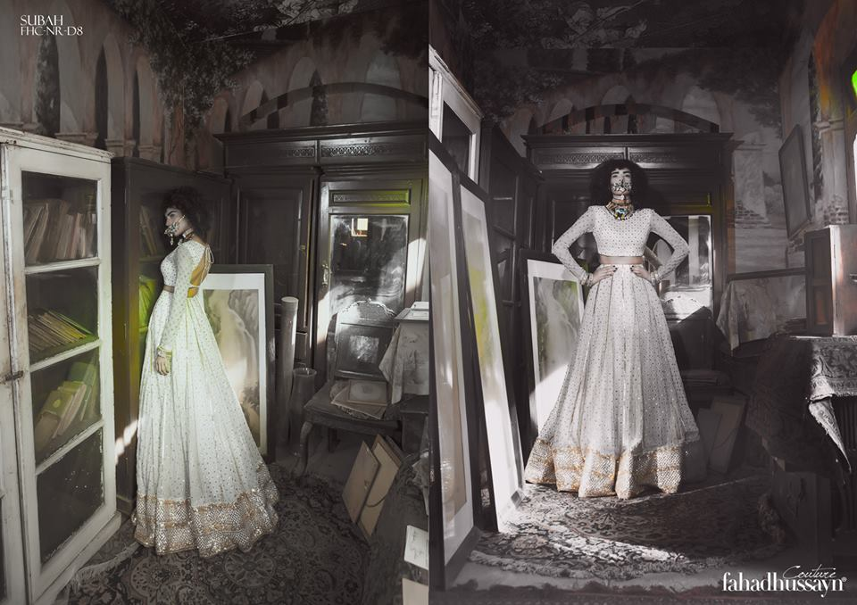 Latest Fahad Hussayn Digital Printed Embroidered Silk Bridal Suits Eid Collection 2015 (7)