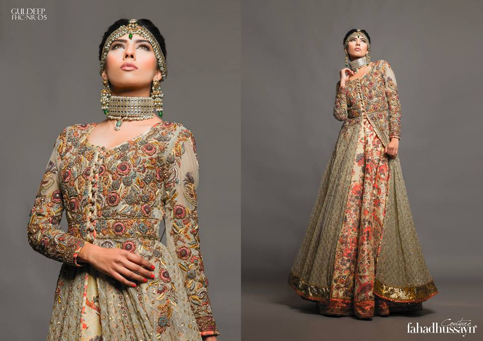Latest Fahad Hussayn Digital Printed Embroidered Silk Bridal Suits Eid Collection 2015 (9)