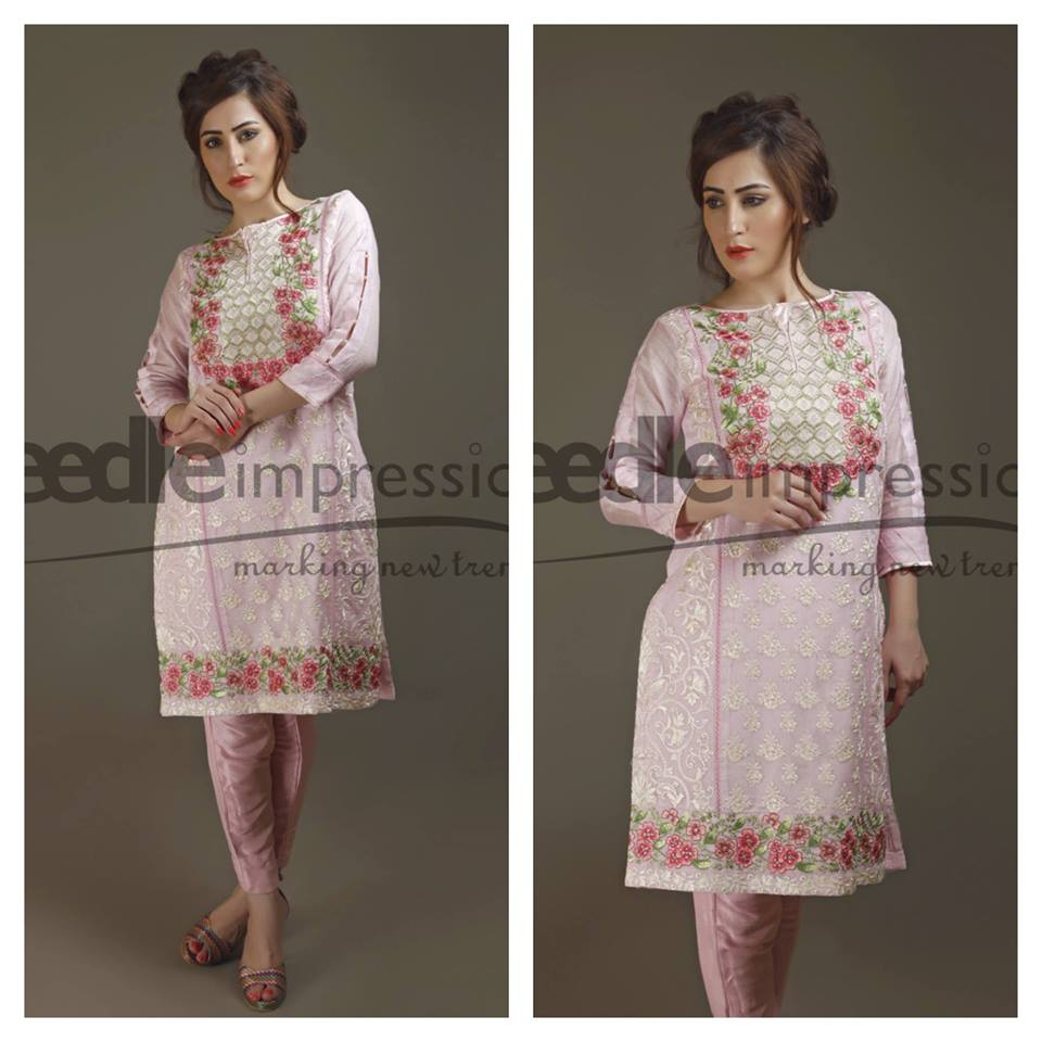 Needle Impressions Latest Fancy Embroidered Chiffon Dresses Collection 2016-2017 (1)