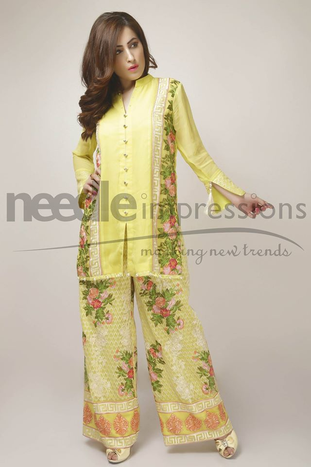 Needle Impressions Latest Fancy Embroidered Chiffon Dresses Collection 2016-2017 (10)